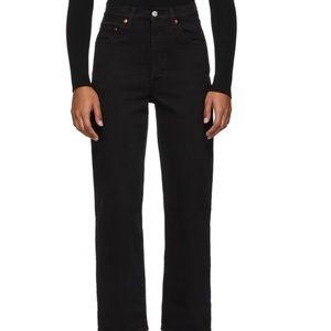 Cropped Black Levi Jeans